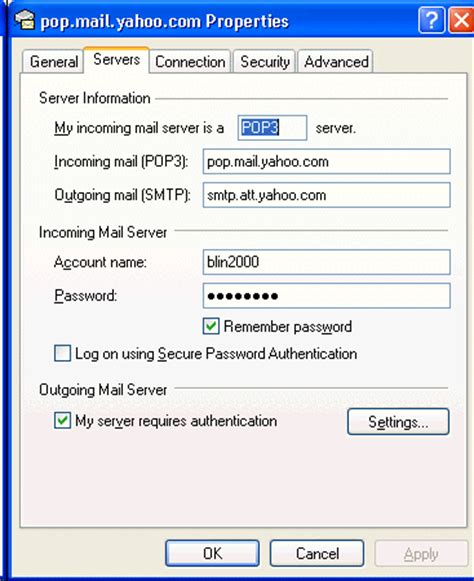 yahoo email outgoing server settings how to setup outlook express using isp smtp server