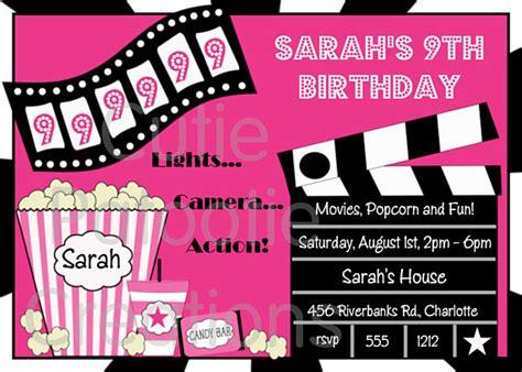 printable birthday invitations movie theme free free printable birthday invitations movie theme www