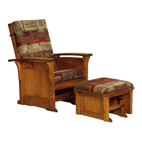 gliders and ottomans amish rockers gliders furniture amish rockers