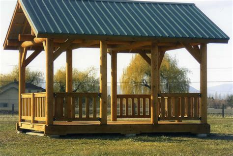 backyard shelter plans picnic shelter plans skyline custom log company custom