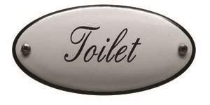 deurbordjes toilet emaille deurbordje toilet
