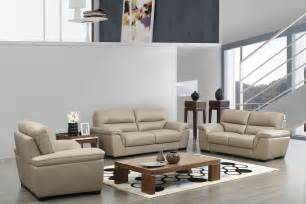 contemporary beige leather stylish sofa set with wooden