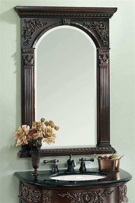 elegant bathroom mirrors beautiful carved vanity mirror cool pinterest