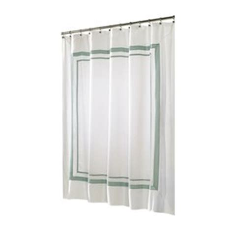 seafoam green shower curtain white seafoam green framed hotel fabric