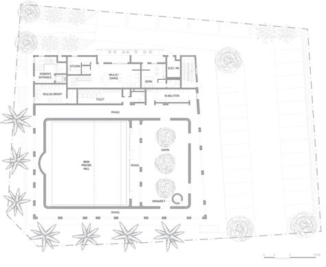 floor plan of a mosque al warqa a mosque ibda design archdaily