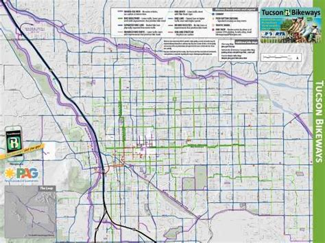 map of tucson bike maps my