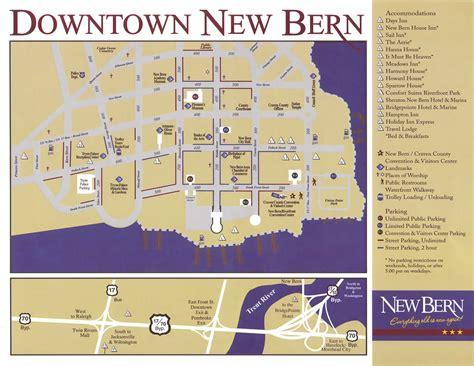 new bern carolina map new bern map downtown new bern nc usa mappery