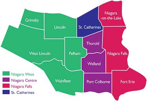 map of niagara region canada members of parliament for niagara region niagara region