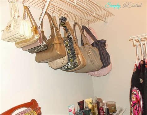 How To Organize Purses In Closet by Best 25 Hanging Purses Ideas On Diy Organize