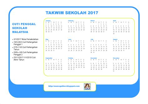 Calendar 2018 Sabah Malaysia School Calendar 2017 Parenting Times