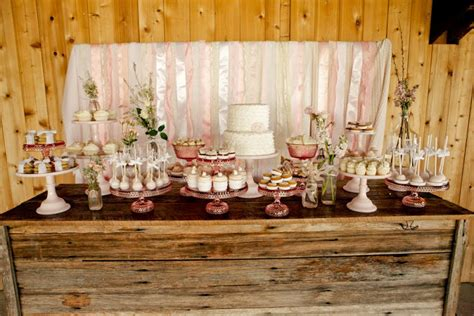 how to create a rustic dessert table for your barn wedding vintage pink shabby chic dessert table jenny cookies