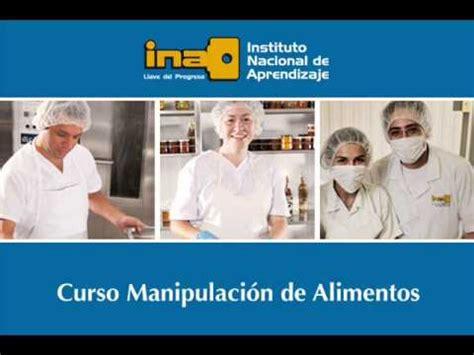 ina en tirrases tiene matricula abierta  cursos de manipulacion de alimentos elmonitorcrcom