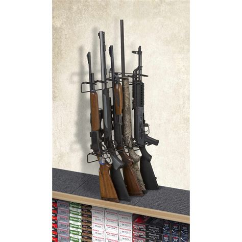 Rifle Display Rack by 1 5 Rifle Locking Leans Left Display Mount Anywhere Sku