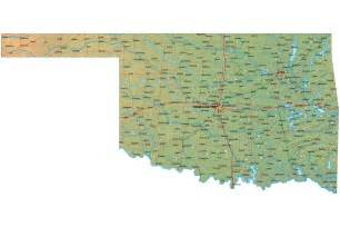 Oklahoma State Map With Cities by Map Of Oklahoma Oklahoma Maps Mapsof Net