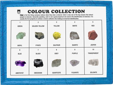 color properties manufacturers of minerals colour collection physical
