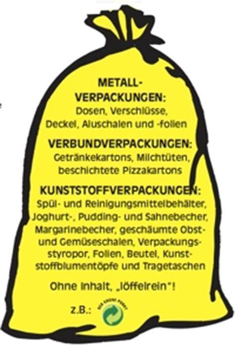 wann werden gelbe säcke abgeholt auslieferung gelber tonnen bestellung gelber tonnen