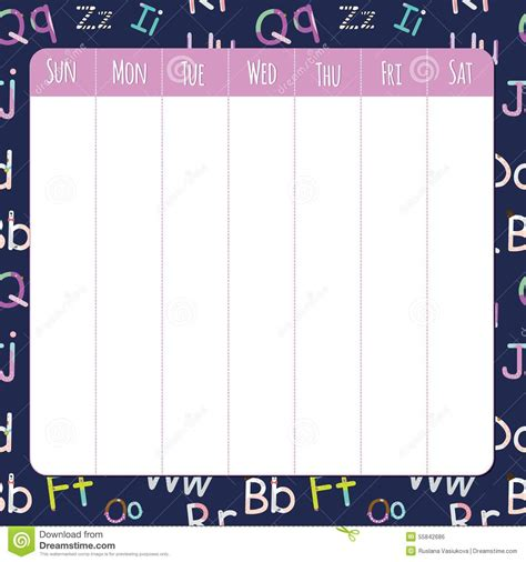 pin cute timetable template on pinterest