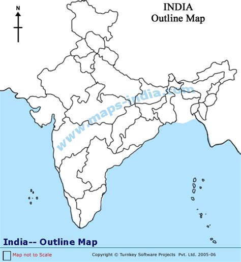 India Maps Outlines Blank by Free Coloring Pages Of India Political Outline