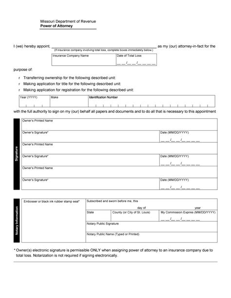 durable power of attorney template free 50 free power of attorney forms templates durable