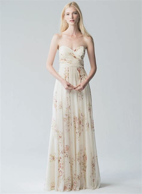 Strapless Maxi Chiffon Dress strapless sleeveless floral printed chiffon maxi dress