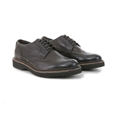 testa calzature scarpe stringate uomo all inglese testa di moro scarpe