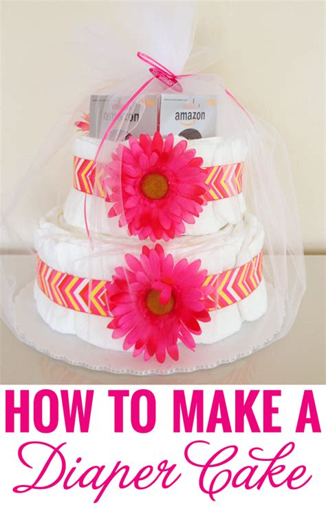How To Make A Cake From Diapers For Baby Shower by How To Make A Cake Chickabug