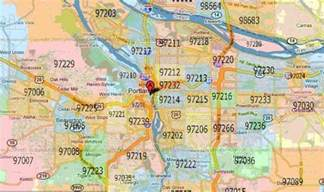 zip code map for portland oregon map travel