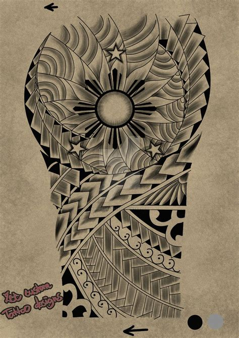 3 stars and a sun tattoo tribal request design maori 3 and the sun by