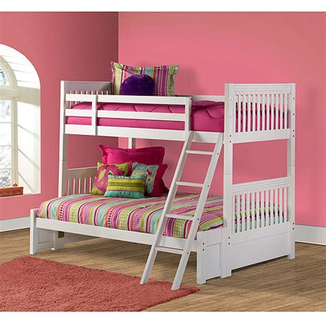 walmart white bunk beds lauren twin over full bunk bed white featured shops