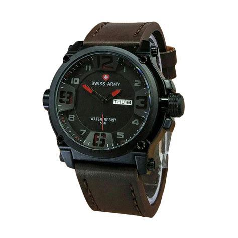 Jam Tangan Pria Swiss Army Zalora harga swiss army jam tangan pria leather starp