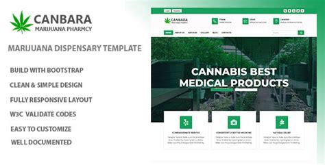 Canbara Medical Marijuana Html Template Nulled Download Marijuana Website Templates