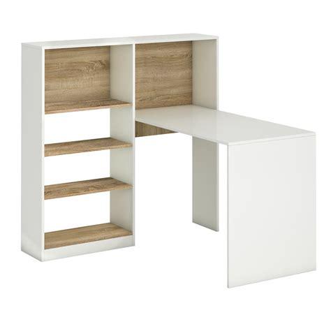 Schreibtisch Mit Regal by Yarial Sonoma Eiche Wei 223 M 246 Bel Interessante Ideen