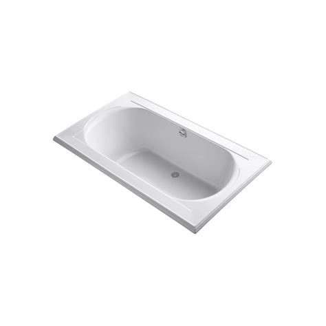 kohler memoirs bathtub kohler memoirs 6 ft center drain bathtub in white k 1418