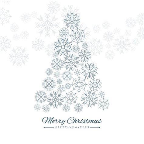225 rbol de navidad con copos de nieve descargar vectores