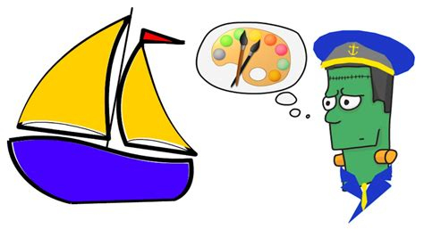 a boat cartoon how to draw a cartoon sail boat step by step youtube