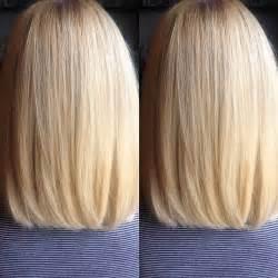 Back view of long bob haircut hollywood official