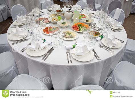 wedding banquet round tables white tablecloths stock photo royalty