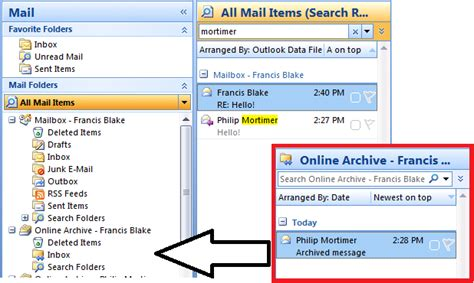 Searching Archived Emails In Outlook Outlook 2007 Hotfix For Exchange 2010 Personal Archive Support Eightwone 821