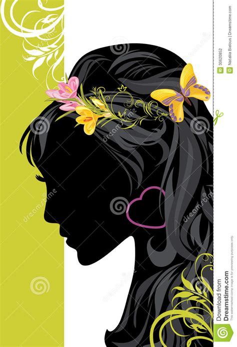 Hairstyle Banner Design | summer female hairstyle decorative banner stock