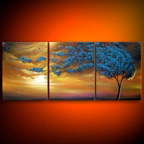 best 25 three canvas painting ideas on tree canvas paintings tree canvas and