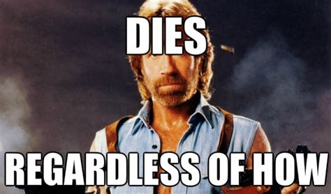 Chuck Meme - how would these celebrities die as ironically as paul