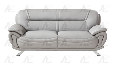 american eagle ae388 gr gray faux leather sofa and