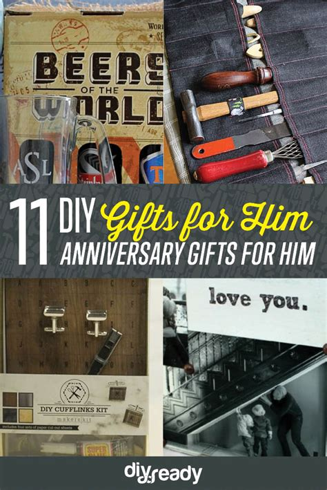diy projects for him anniversary gifts for him diy projects