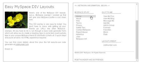 layout editor myspace plain white myspace div layouts myspace overlays layout