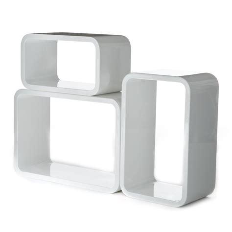cubi arredamento set 3 cubi kuadra da parete mensole rettangolari per arredo