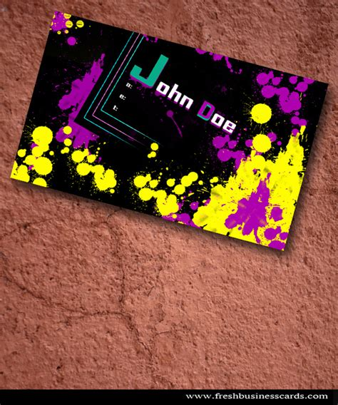 Paint Splatter Business Card Template by 25 Fascinating Psd Business Card Templates