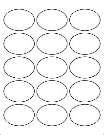 2 5 Quot X 1 75 Quot Oval Labels Ol885 Oval Sticker Template