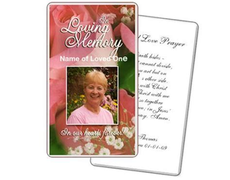 A Customizable Funeral Prayer Card Template Created By The Funeral Program Site Templates Free Printable Funeral Prayer Card Template