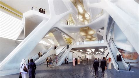 design concept ksa zaha hadid wins competition to design riyadh metro station