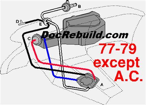 dr rebuild corvette products 1977 1979 early corvette climate hose kit without